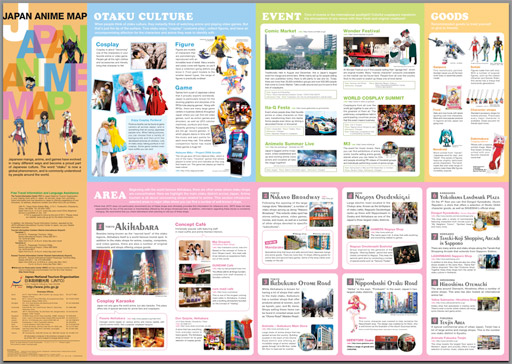 Japan National Tourism Organization Japan Anime Map - Japan map download pdf