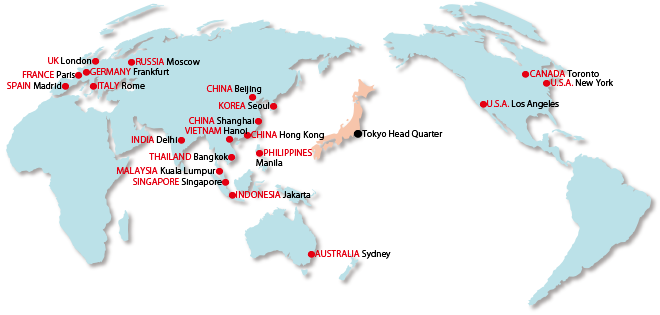 Japan National Tourism Organization Contact Us - Japan map in world map